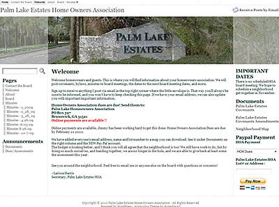 Palm Lake Estates Website